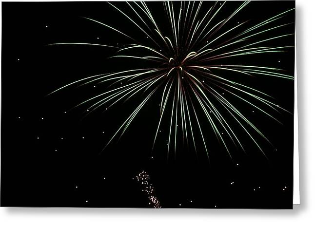 Greeting Card featuring the photograph Fireworks 11 by Ron Read