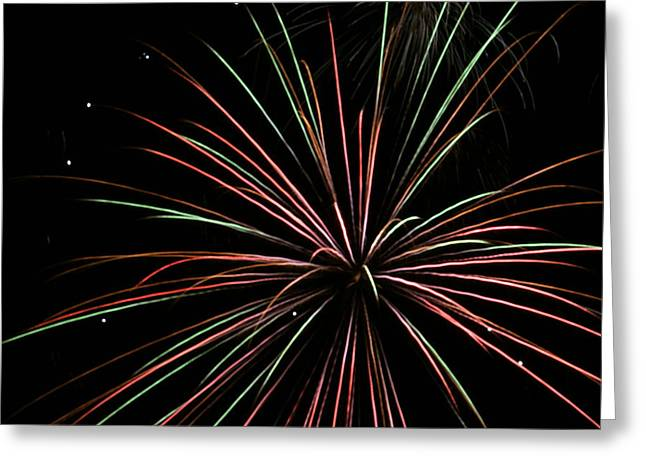 Greeting Card featuring the photograph Fireworks 2 by Ron Read