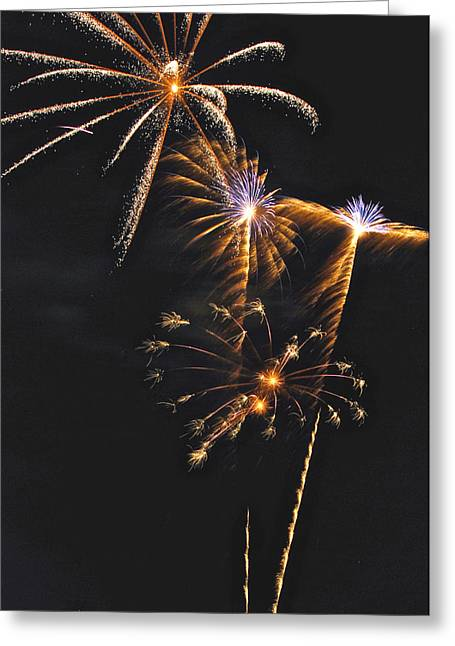 Pyrotechnics Greeting Cards - Fireworks 3 Greeting Card by Michael Peychich