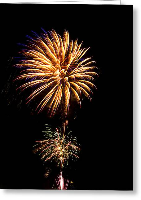 Greeting Card featuring the photograph Fireworks 4 by Bill Barber