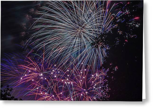 Fireworks 4 Greeting Card