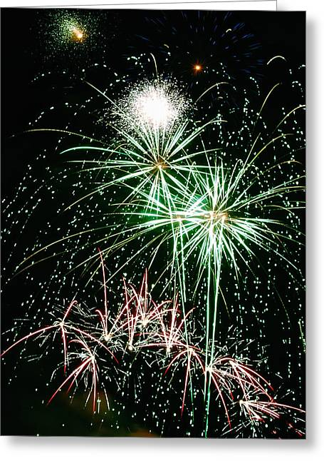 4th July Greeting Cards - Fireworks 4 Greeting Card by Michael Peychich