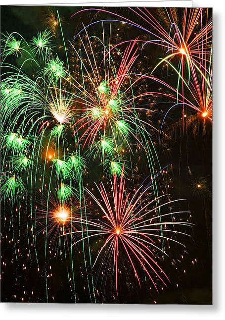 Fireworks 4th Of July Greeting Card by Garry Gay