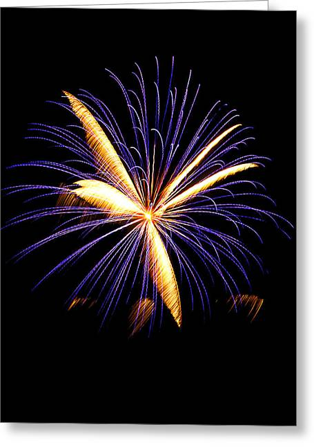 Greeting Card featuring the photograph Fireworks 6 by Bill Barber