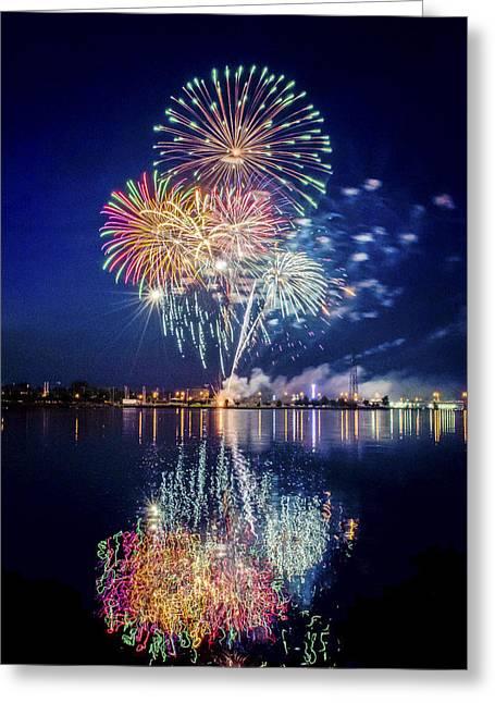 Fireworks - 7 Greeting Card