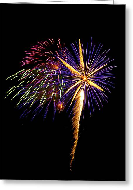 Greeting Card featuring the photograph Fireworks 8 by Bill Barber