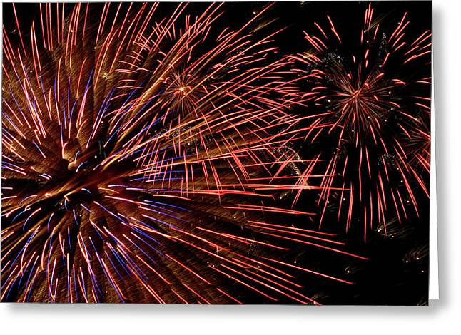 Fireworks  Greeting Card by Paul Morley