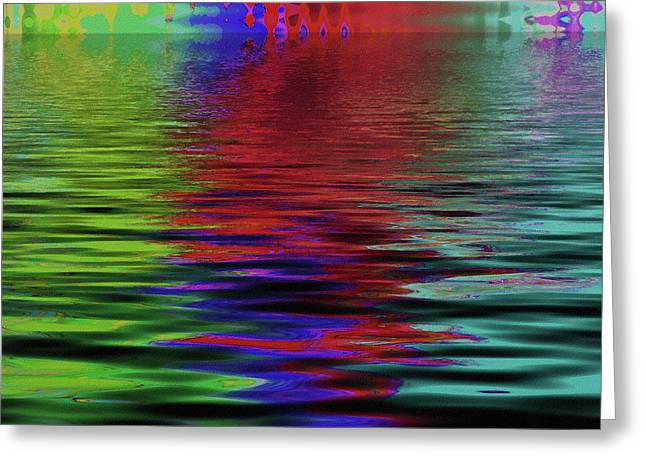 Fireworks Abstract Greeting Card by Bonnie Bruno