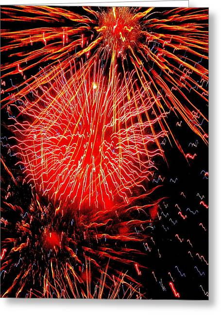 Fireworks Abstraction 2 Greeting Card