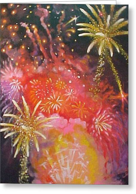 Fireworks Celebration Greeting Card by Bobbi Baltzer-Jacobo