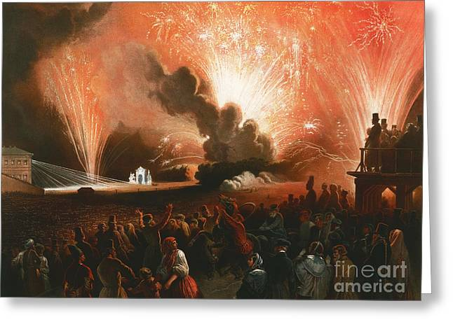 Fireworks Greeting Card by Celestial Images