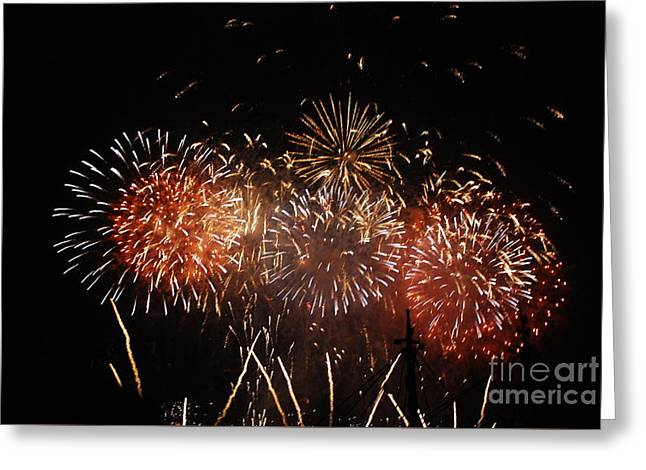 Firework's Display Greeting Card by Joe Cashin