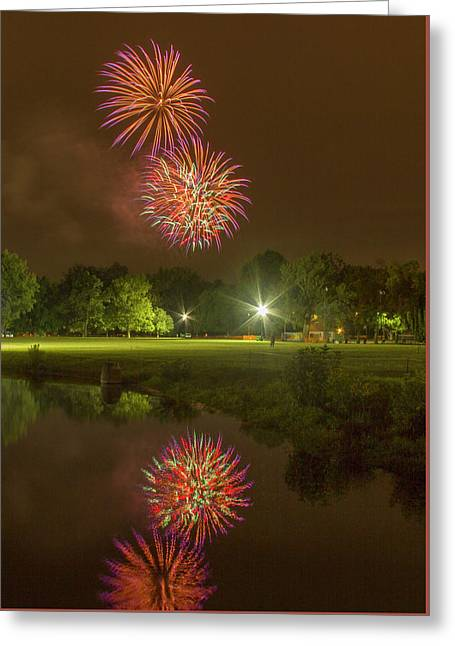 Fireworks During Fair St Louis Greeting Card