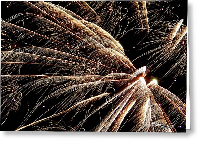 Greeting Card featuring the photograph Fireworks Evolution #0710 by Barbara Tristan