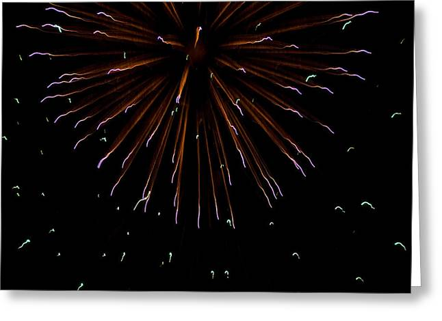 Fireworks Explode In The Air In Kansas Greeting Card by Joel Sartore