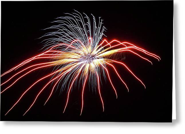 Fireworks From A Boat - 11 Greeting Card