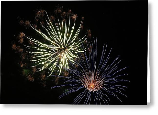 Fireworks From A Boat - 14 Greeting Card