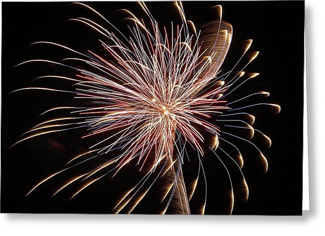 Fireworks From A Boat - 16 Greeting Card