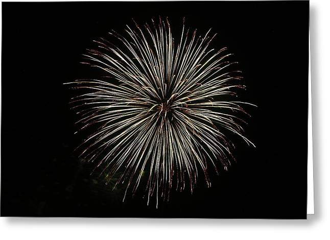 Fireworks From A Boat - 2 Greeting Card