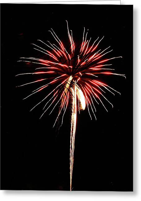 Fireworks From A Boat - 4 Greeting Card