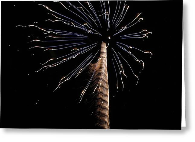 Fireworks From A Boat - 6 Greeting Card