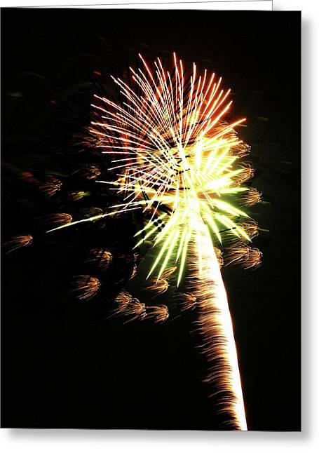 Fireworks From A Boat - 9 Greeting Card by Jeffrey Peterson