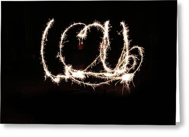 Fireworks Fun Greeting Card by Richard Mitchell