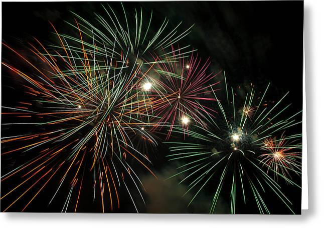 Fireworks Greeting Card by Glenn Gordon