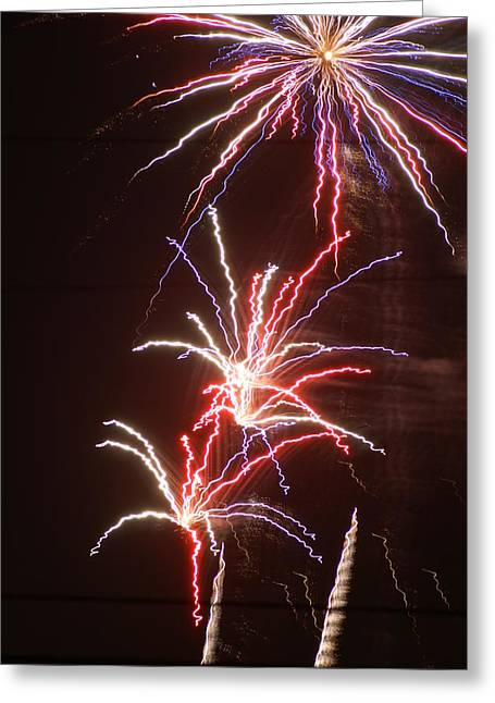 Fireworks Greeting Card by Heather Green