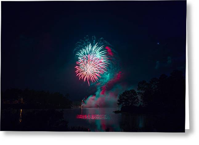 Fireworks In The Country Greeting Card