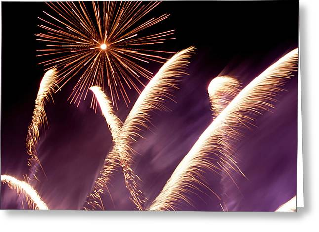 Fireworks In The Night Greeting Card