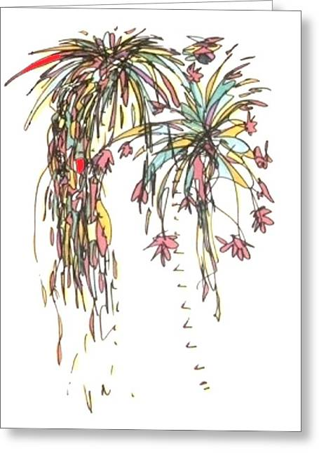 Fireworks Drawings Greeting Cards - Fireworks IV Greeting Card by Gabe Art Inc