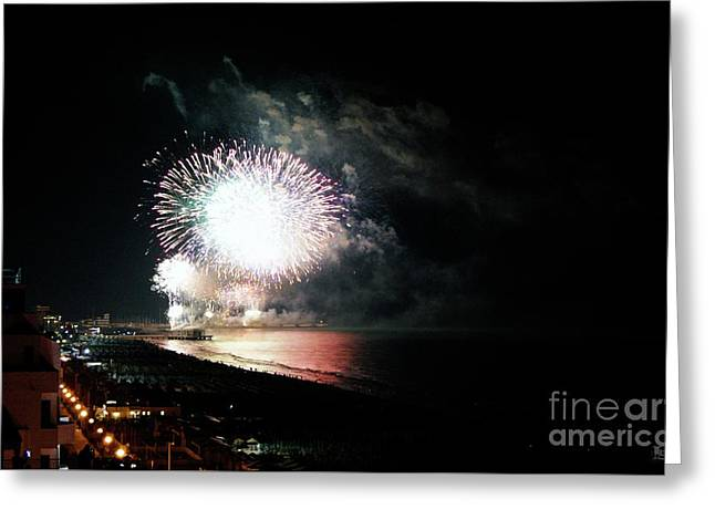 Fireworks Greeting Card by LDS Dya