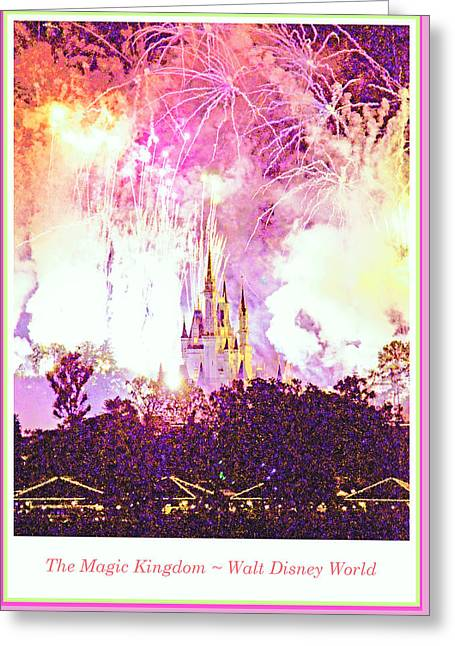 Fireworks, Magic Kingdom, Walt Disney World Greeting Card