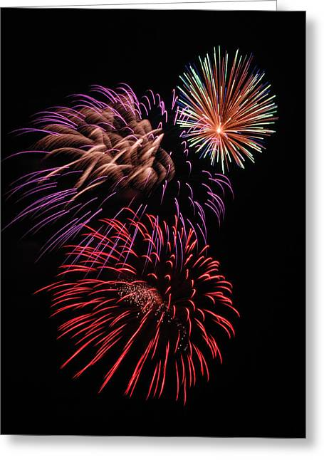 Fireworks Greeting Card by Marv Vandehey