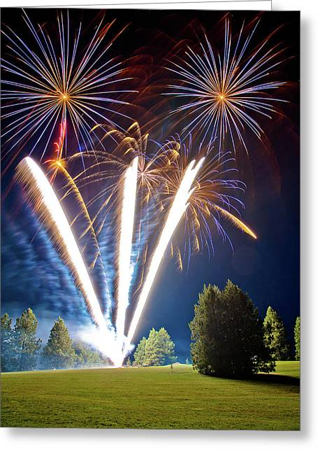Fireworks No.2 Greeting Card by Niels Nielsen
