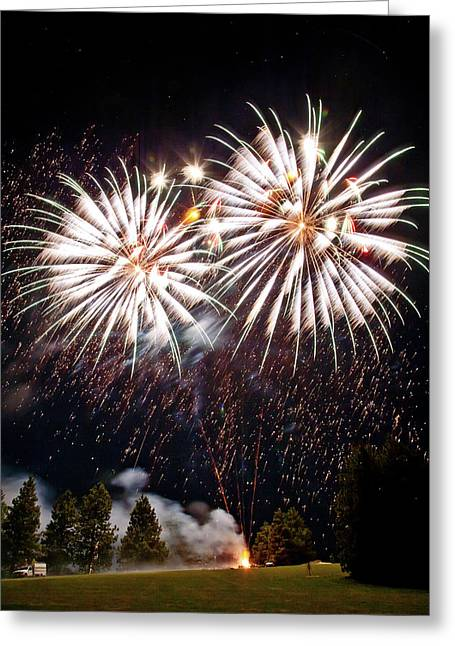 Fireworks No.5 Greeting Card by Niels Nielsen