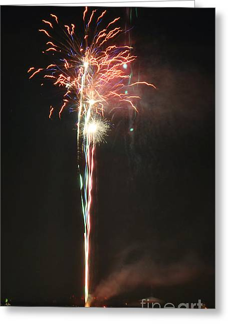 Fireworks On The Lake Greeting Card