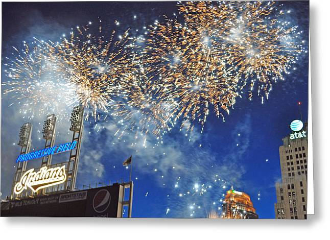 Fireworks Greeting Card by Patrick Friery