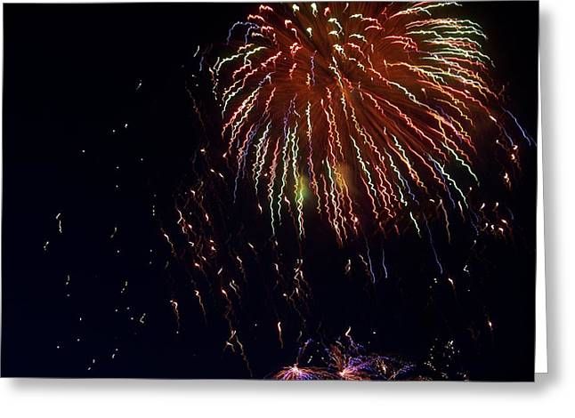 Fireworks Greeting Card by Rosanne Bartlett