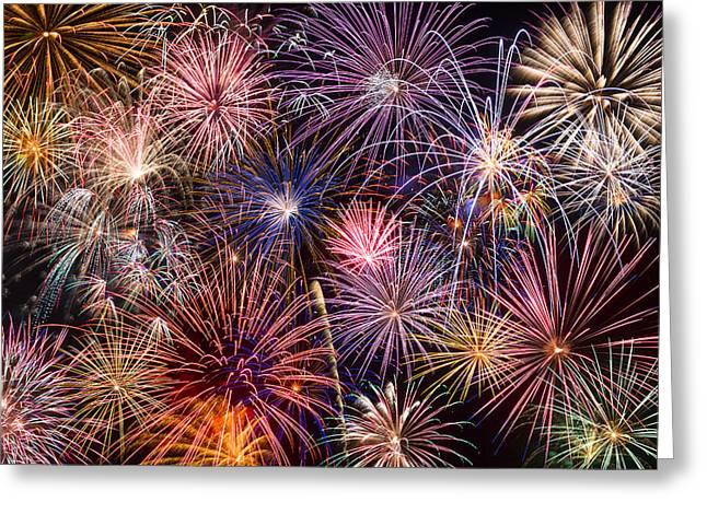 Fireworks Spectacular Iv Greeting Card by Ricky Barnard