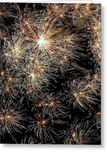 Greeting Card featuring the photograph Fireworks by Suzanne Stout