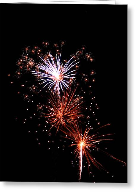 Pyrotechnics Greeting Cards - Fireworks13 Greeting Card by Malcolm Howard
