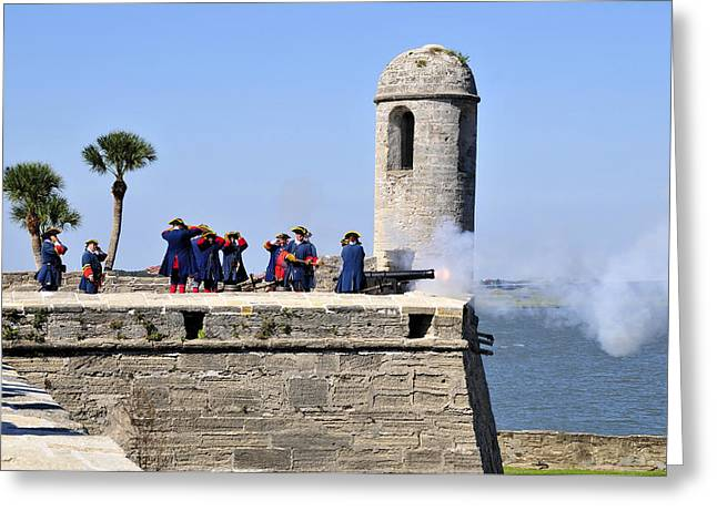 Firing On The British Greeting Card by David Lee Thompson