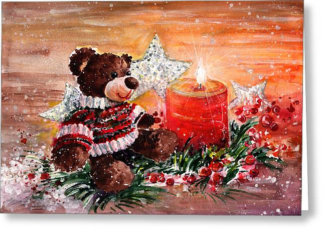 First Advent For Truffle Mcfurry Greeting Card by Miki De Goodaboom