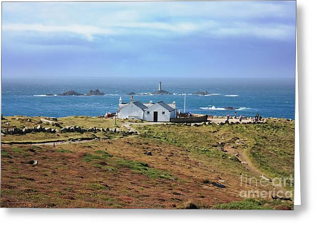 First And Last View Land's End Cornwall Greeting Card by Terri Waters