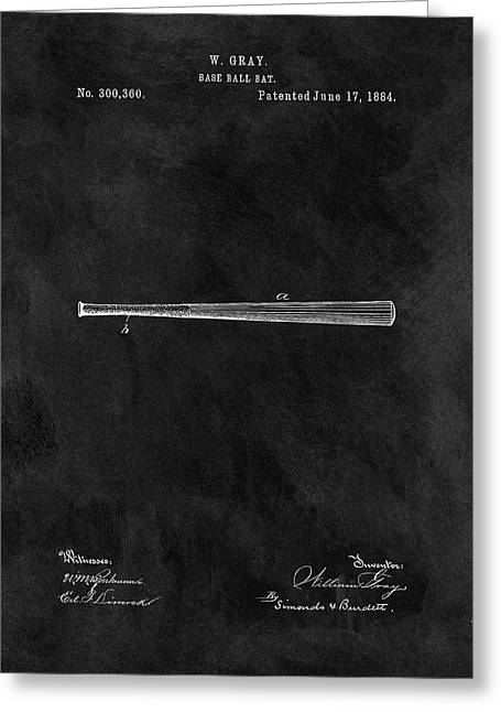 First Baseball Bat Patent Greeting Card by Dan Sproul