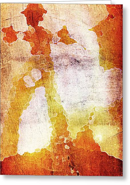 Backlit Digital Greeting Cards - First Cellist Greeting Card by Andrea Barbieri