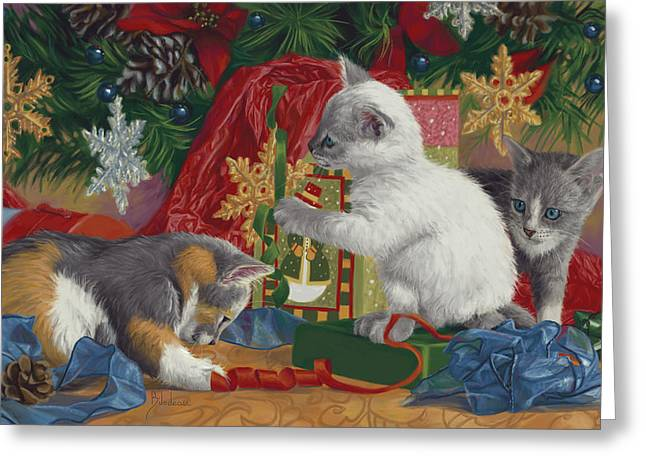 Kitten Christmas Cards.Calico Kitten Greeting Cards Fine Art America