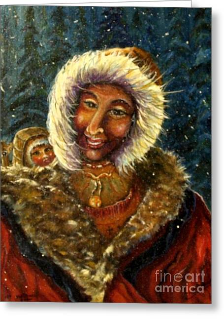 First Christmas Snow Greeting Card